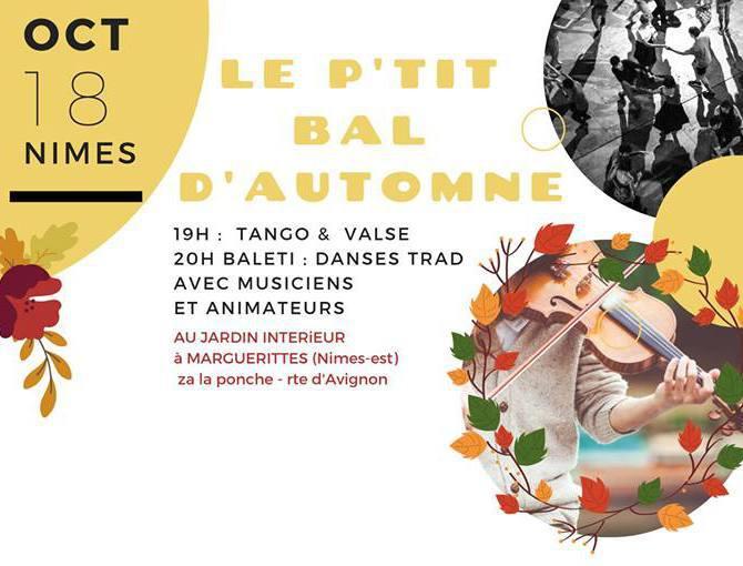 Le p'tit bal d'automne : 18 octobre 2019