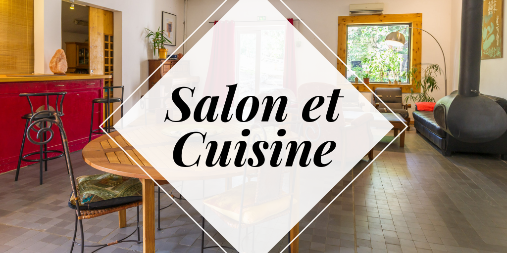 salon et cuisine - l'espace convivial