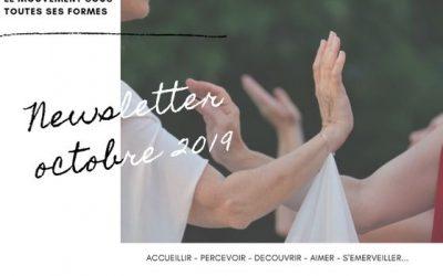 NEWSLETTER octobre 2019 : «Le mouvement sous toutes ses formes»